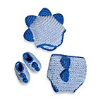 So'dorable Size 0-6 Months Crochet Dinosaur Set in Blue