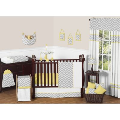 Sweet Jojo Designs Zig Zag Yellow and Grey Chevron 11-Piece Crib Bedding Set & Accessories