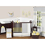Sweet Jojo Designs Zig Zag Chevron Crib Bedding Collection in Grey/Yellow
