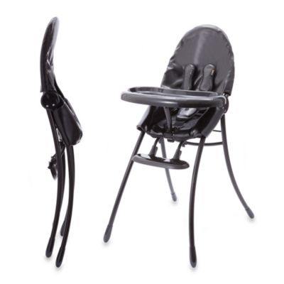 bloom® nano™ Urban High Chair in Matte Black with Snakeskin