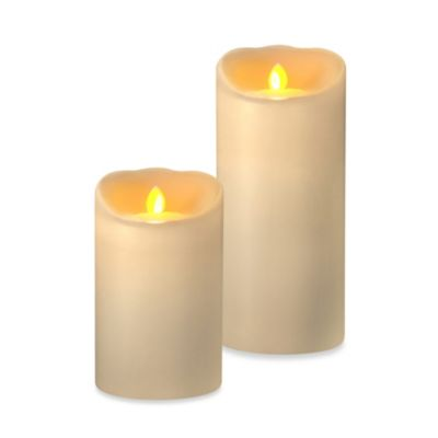 Candle Impressions® Mirage LED Wax Pillar Candles with Timer