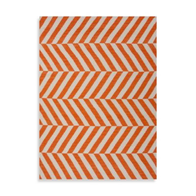 Jaipur Maroc Salma 2-Foot 6-Inch x 8-Foot Runner in Orange