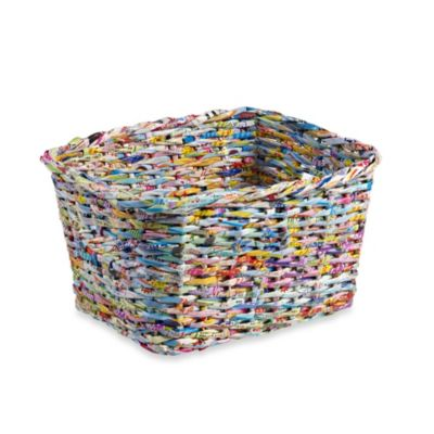 Adele Recycled Paper 13-Inch Tote Basket