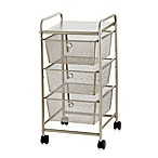 3-Drawer Rolling Metal Cart