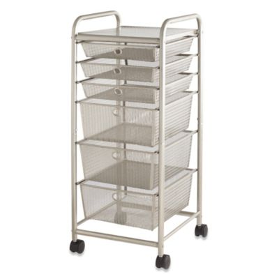 6-Drawer Rolling Metal Cart