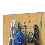 Rubber-Coated Over-the-Door Hook Rack