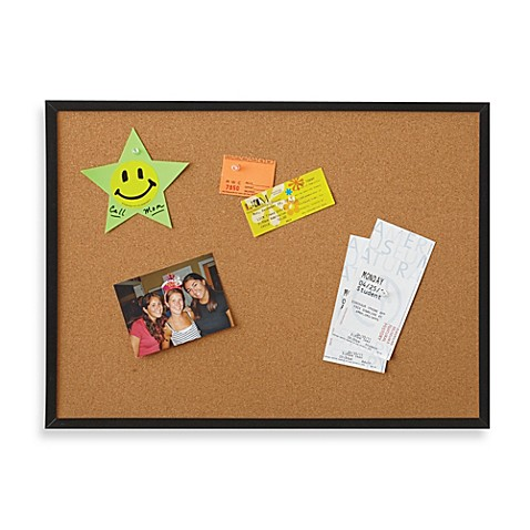 buy cork board 17 inch x 23 inch from bed bath beyond. Black Bedroom Furniture Sets. Home Design Ideas