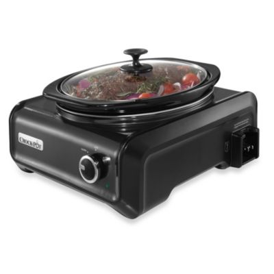 Crock-Pot® 3.5-Quart Oval Hook Up™ Connectable Entertaining System in Charcoal