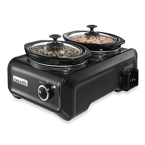 Crock-Pot® Dual 1-Quart Oval Hook Up™ Connectable Entertaining System in Charcoal
