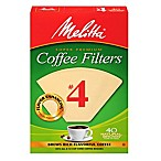 Melitta® 40-Count Number 4 Natural Brown Super Premium Coffee Filters