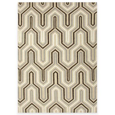 Jaipur Ziggurat 2-Foot 6-Inch x 8-Foot Rug in Light Gold