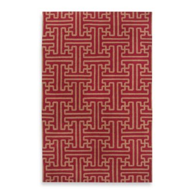 Alachua 2-Foot 6-Inch x 8-Foot Rug in Brick/Gold