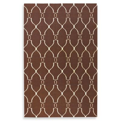 Afton 5-Foot x 8-Foot Rug in Brown