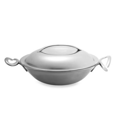 Nambe Gourmet 15-Inch Stir Fry Pan with Lid