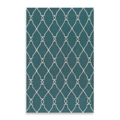 Afton 3-Foot 6-Inch x 5-Foot 6-Inch Rug in Turquoise