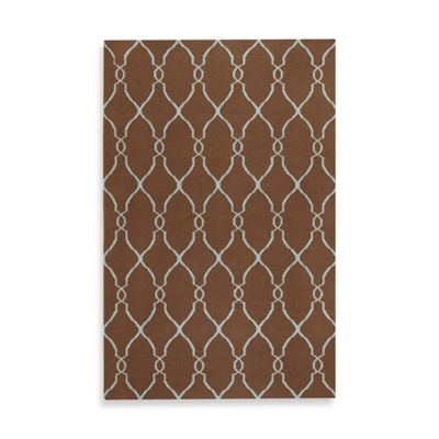 Afton 2-Foot x 3-Foot Rug in Chocolate/Pale Blue