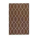 Afton Rug in Chocolate/Pale Blue