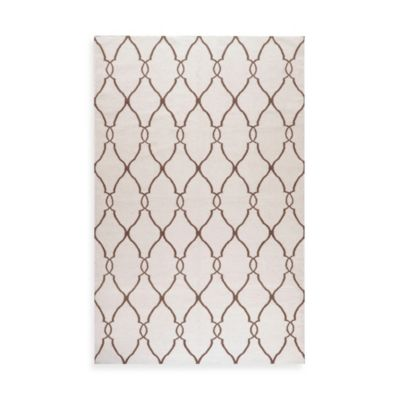 Afton Rug in Ivory/Golden Brown