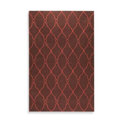 Afton 3-Foot 6-Inch x 5-Foot 6-Inch Rug in Brown/Rust