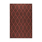 Afton Rug in Brown/Rust