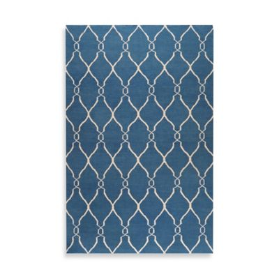 Afton 5-Foot x 8-Foot Rug in Blue/Ivory