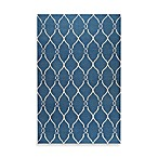 Afton Rug in Blue/Ivory