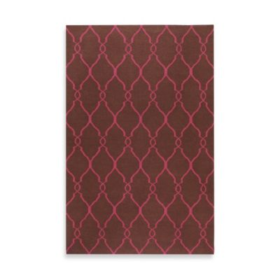 Afton Rug in Chocolate/Fuchsia