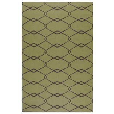 Albin Rug in Lime Green/Chocolate