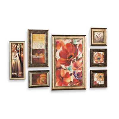 Seven-Piece Floral Wall Art