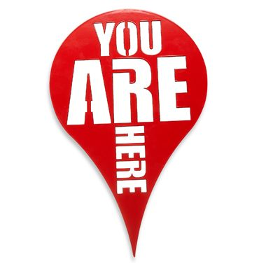"Umbra® ""You Are Here"" Wall Plaque in Red"