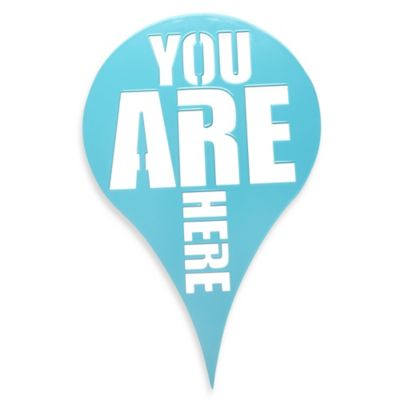 "Umbra® ""You Are Here"" Wall Plaque in Blue"