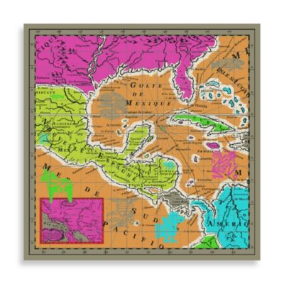 Echo Design™ Canvas Mexico Map Wall Decor