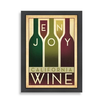 California Wine Framed Wall Art