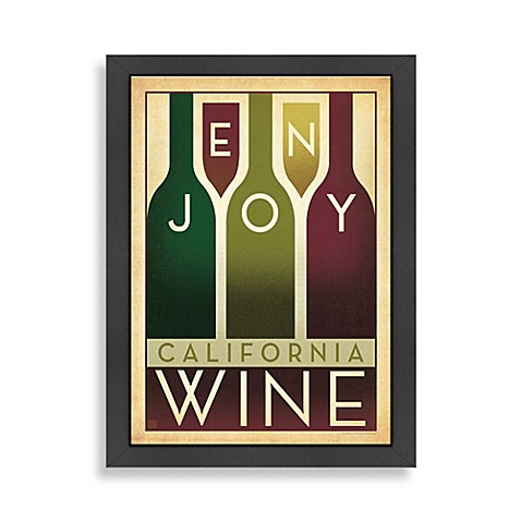Americanflat California Wine Framed Wall Art