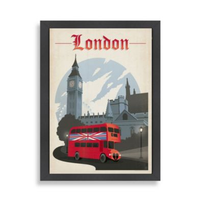 Americanflat London Framed Wall Art