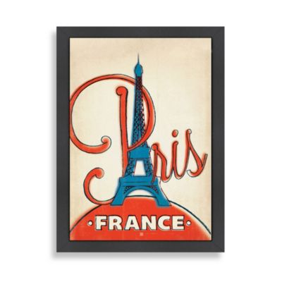Americanflat Paris Framed Wall Art