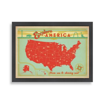 Americanflat Explore America Framed Wall Art