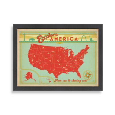 Americanflat Explore America Framed Wall Art