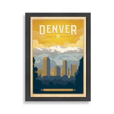 Americanflat Denver Framed Wall Art