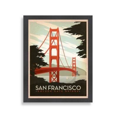 Americanflat The Art & Soul of America Golden Gate Wall Art