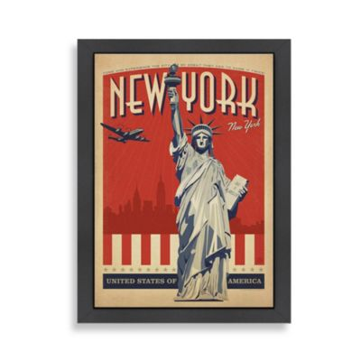 Americanflat The Art & Soul of America New York City Framed Wall Poster