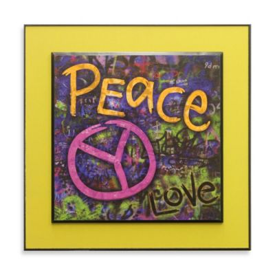 Graffiti Peace Glow-in-the-Dark Wall Art