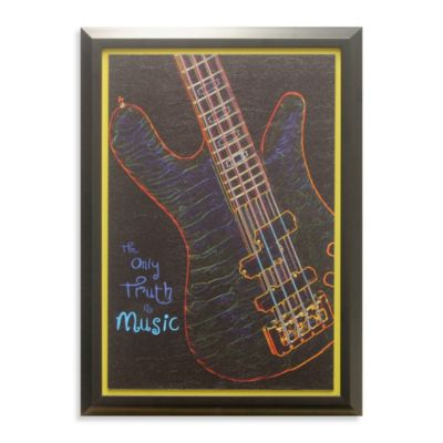 Guitar Glow-in-the-Dark Wall Art