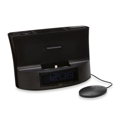 iLuv Dual Alarm Lightning Dock with Bed Shaker