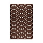Albin Rug in Chocolate/Ivory