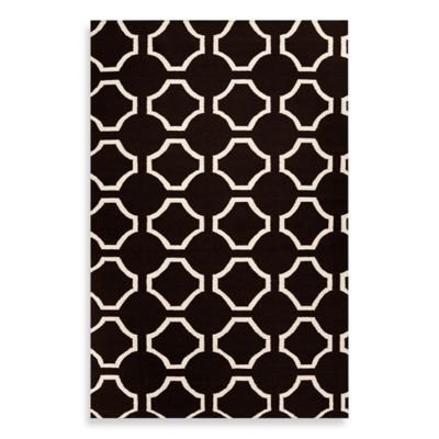Byron 2-Foot x 3-Foot Rug in Black/Cream