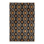 Surya Modern Classics  Rug in Black/Gold