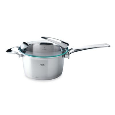 Fissler Solea® 3.4-Quart Stainless Steel High Covered Saucepan