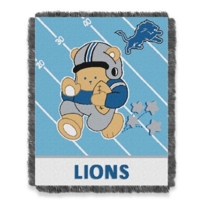 NFL Detroit Lions Woven Jacquard Baby Blanket/Throw