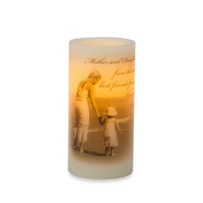 Candle Impressions 3-Inch x 6-Inch Flameless Wax Pillar Candle w/Theme Decal